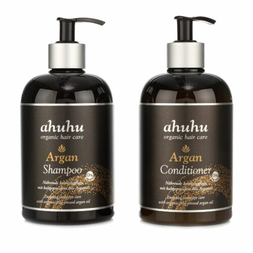 ahuhu organic hair care Argan Shampoo & Conditioner 2x 500ml