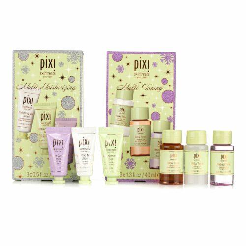 PIXI BEAUTY Gesichts-Pflege Set Tonic Toner 3x 40ml Feuchtigkeitscreme 3x 15ml & Geschenkbox