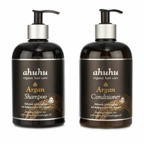 ahuhu organic hair care Argan Shampoo & Conditioner 2x 500ml