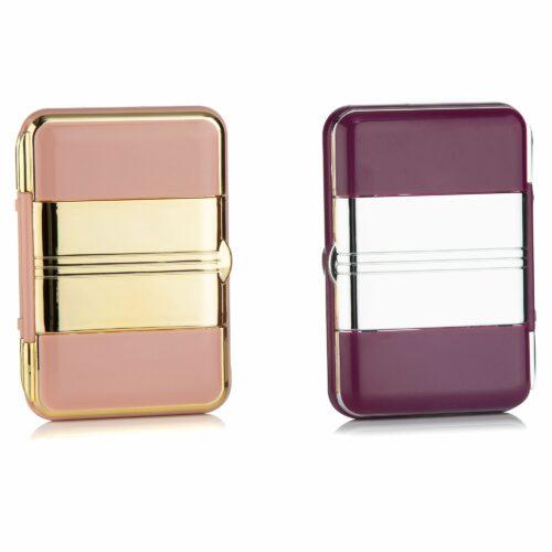 SIMPLY BEAUTY™ Kosmetikspiegel aufklappbar mit Licht & Pinzette 2 Stück