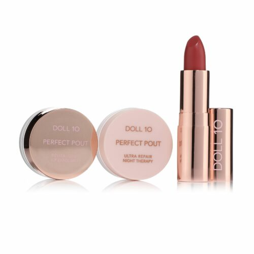 DOLL 10 BEAUTY Lippenpflege-Trio mit Lip Smoothie Lippenstift 3,7g