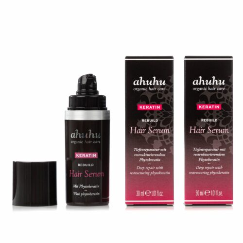 ahuhu organic hair care Keratin Serum für gesundes Haar 2x 30ml