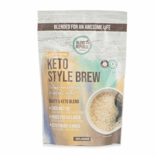 BLEND REPUBLIC Keto Style Brew Salty Caramel-Maca mit Kokosöl, MCT-Öl & Kollagen 220g