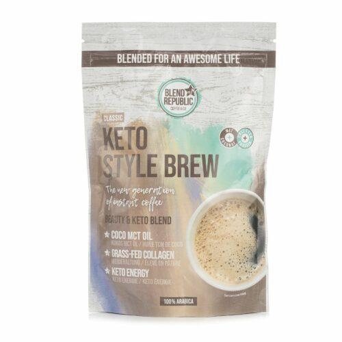 BLEND REPUBLIC Keto Style Brew Classic mit Kokosöl, MCT Öl & Kollagen 220g für 22 Portionen