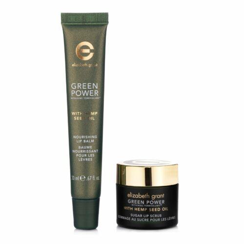 ELIZABETH GRANT Green Power & Hemp Oil Lippenpeeling & Lippenbalm, 2tlg.