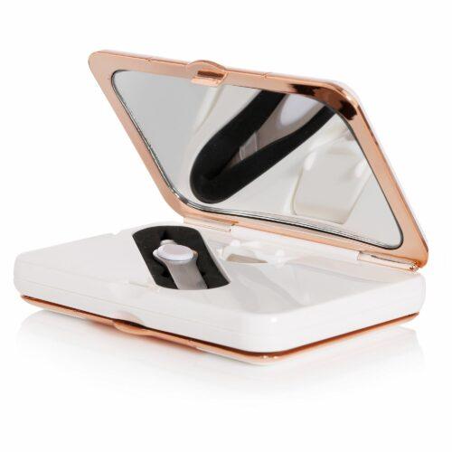 SIMPLY BEAUTY™ Taschenspiegel mit 2 Spiegeln inkl. Vergrößerung & Pinzette