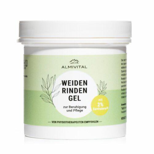 ALMIVITAL Weidenrinde Gel mit Zanthalene® 250ml im Tiegel