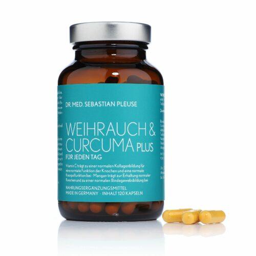 Dr. med. Sebastian Pleuse Weihrauch & Curcuma Plus mit MSM & Mangan 120 Kapseln, 60 Tage