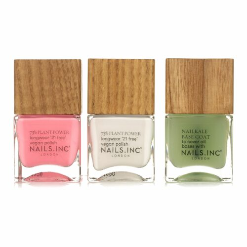 NAILS.INC® Nagellack-Trio Choose Plant Farblacke 2x 14ml & Base Coat 1x 14ml