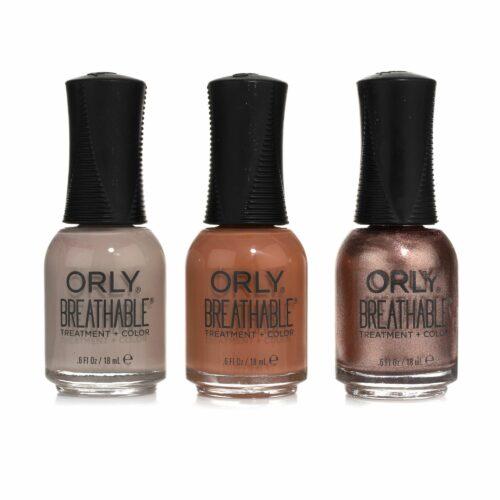 ORLY® Nagellack-Set Farblacke atmungsaktiv & pflegend, 3x 18ml