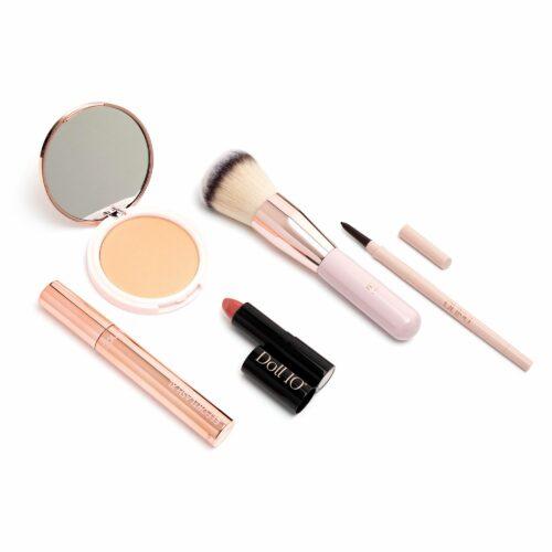 DOLL 10 BEAUTY Make-up-Set für Augen, Lippen & Gesicht inkl. Pinsel, 5tlg.
