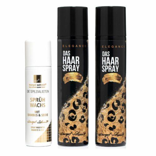 MARGOT SCHMITT® Elegance Haarspray 2x 300ml Sprühwachs mit Bambus und Seide 150ml
