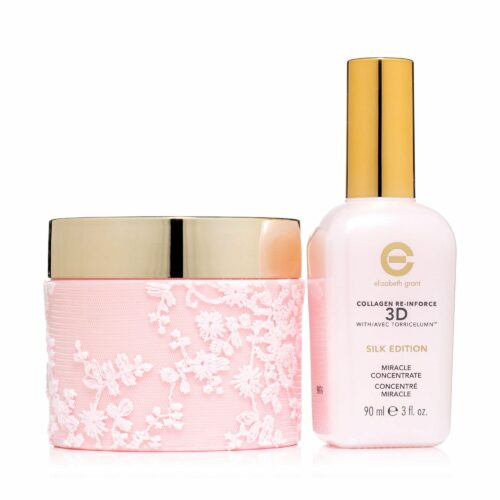 ELIZABETH GRANT Collagen Silk 24h-Creme 200ml im Designtiegel & Miracle Serum 90ml