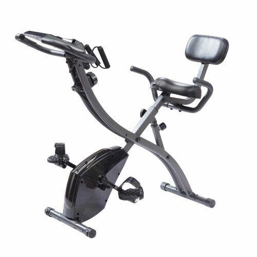 SLIM CYCLE 3in1-Heimtrainer mit Klappfunktion & 2 Widerstandsbänder belastbar bis 136kg