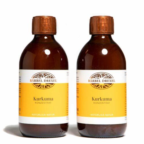 BÄRBEL DREXEL Kurkuma-Konzentrat mit Vitamin C 2x 300ml für 60 Tage