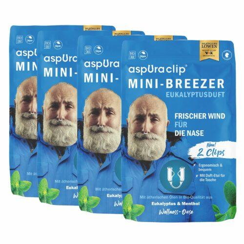 ASPURACLIP Mini-Breezer für die Nase mit ätherischen Ölen 4x 2 Stück