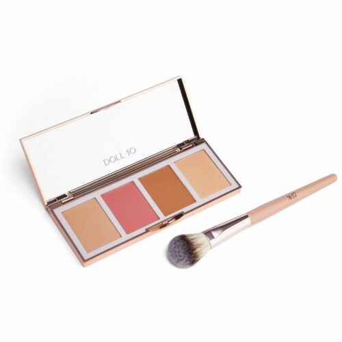 DOLL 10 BEAUTY Full Face Palette Refocus Puder & Rouge Highlighter & Bronzer mit Pinsel