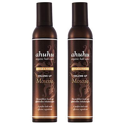 ahuhu organic hair care Volume up Mousse Volumenschaum 2x 300ml