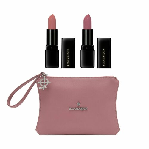 ILLAMASQUA Lippenstift-Duo Ultramatter Lipstick 2x 3,2g mit Tasche