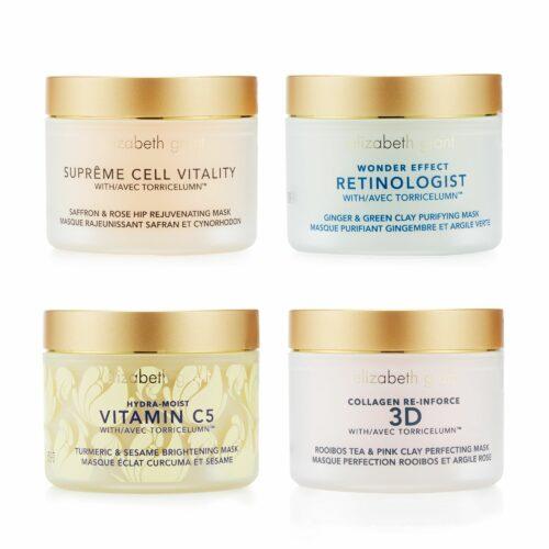 ELIZABETH GRANT Masken-Set Collagen, Vitamin C5, Wonder Effect & Supreme, 4x 50ml