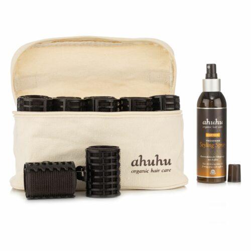 ahuhu organic hair care Hair Curlers Set Coffein Styling Spray 200ml