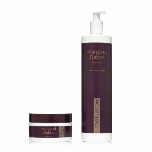 MARGARET DABBS LONDON Fabulous Feet Foot Hygiene Cream 150ml & Intensive Foot Lotion 600ml