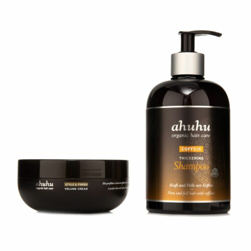 ahuhu organic hair care Coffein Shampoo 500ml & Volumencreme 200ml Sondergröße