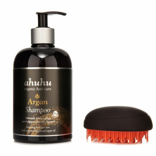 ahuhu organic hair care Argan Shampoo 500ml & Soft Touch Brush