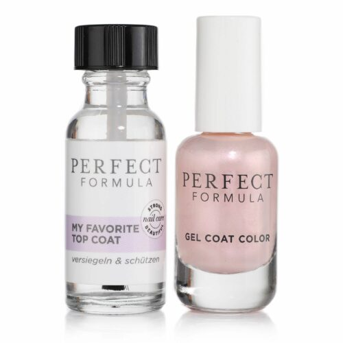 PERFECT FORMULA Nagellack-Set Gel Coat Color in Opulence 8ml Top Coat 18ml