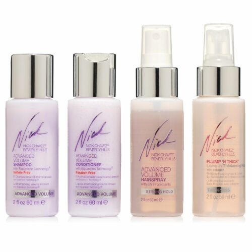 NICK CHAVEZ® Volumen Shampoo Conditioner Haarspray je 60ml Leave-in Mist 59ml