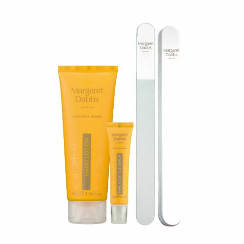 MARGARET DABBS LONDON Home Manicure Set 4tlg., Creme 75ml Serum-Stift 15ml, Nagelfeile, Buffer