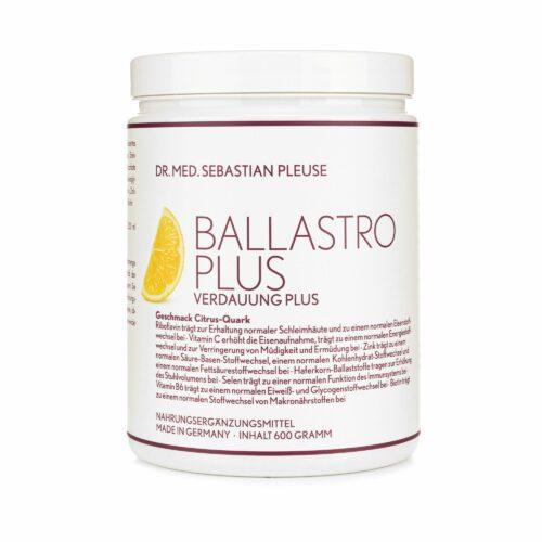 Dr. med. Sebastian Pleuse Ballastro Plus Drink Citrus-Quark 600g für 30 Portionen