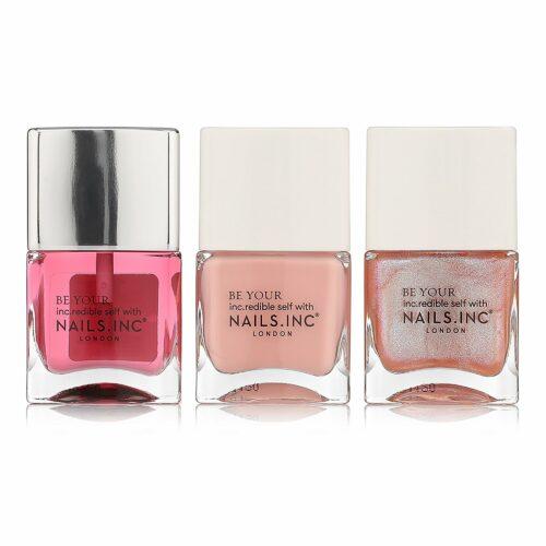NAILS.INC® Nagellack-Set A Rose a Day Farblack 2x 14ml Nagelöl 14ml