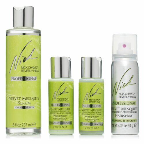 NICK CHAVEZ® Velvet Mesquite Shampoo, Conditioner Haarspray Minis Serum 237ml