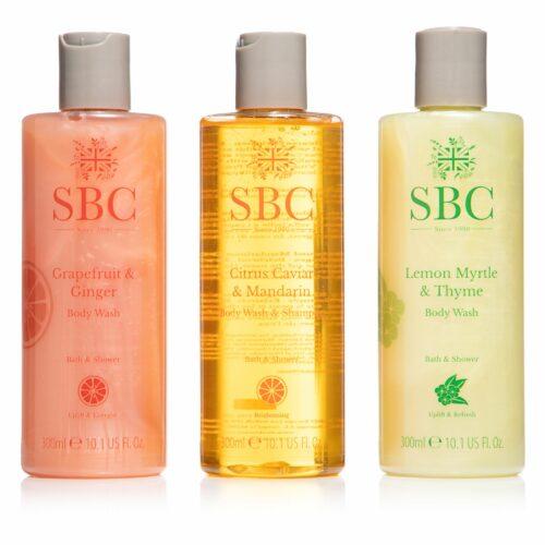 SBC Shower-Gel Trio Grapefruit, Lemon Myrtle & Citrus Caviar, je 300ml