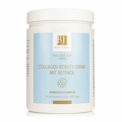 BEATE JOHNEN Aus Liebe zum Leben Collagen Beauty Drink mit Retinol, Himbeer- geschm., 30 Portionen