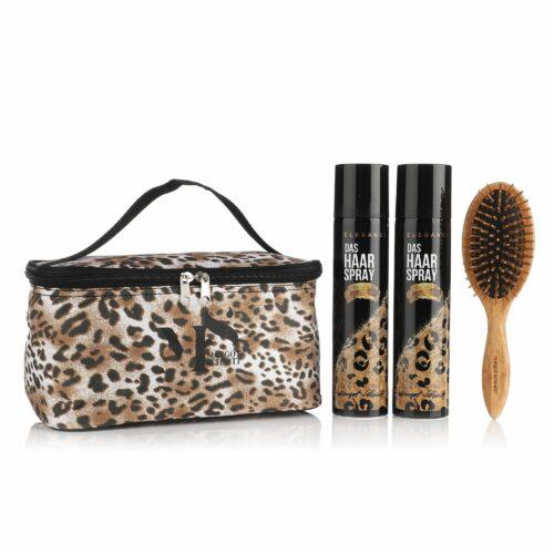 MARGOT SCHMITT® Elegance Haarspray 2x 300ml Bambusbürste mit Tasche