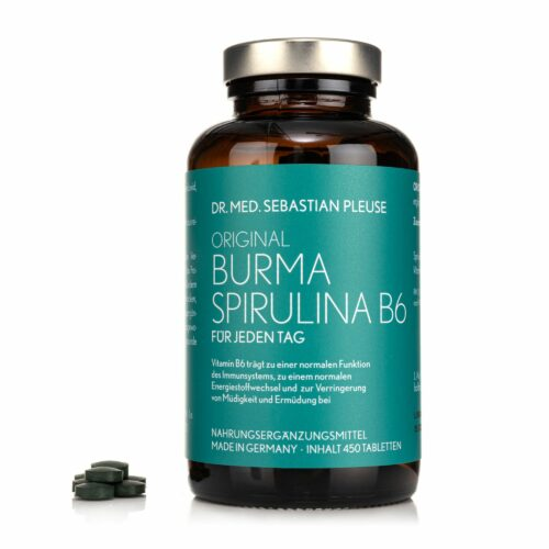 Dr. med. Sebastian Pleuse Burma Spirulina mit Vitamin B6 450 Tabletten,75 Tage