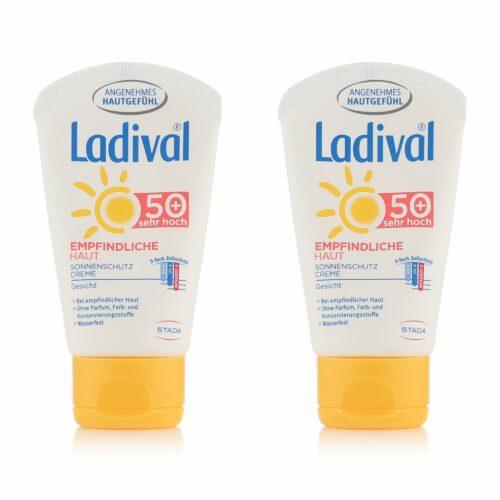 LADIVAL® Sonnencreme-Set Gesicht LSF 50+ für empfindliche Haut 2x 50ml