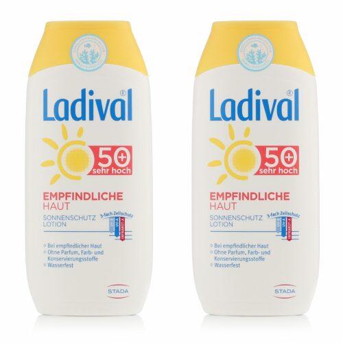 LADIVAL® Sonnenschutz Lotion Körper LSF 50+ für empfindliche Haut 2x 200ml