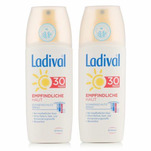 LADIVAL® Sonnenschutz Spray Körper LSF 30 Für empfindliche Haut Duo 2x 150ml