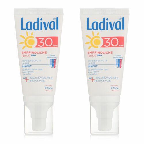 LADIVAL® Sonnencreme-Set Gesicht LSF 30 Für empfindliche Haut 2x 50ml