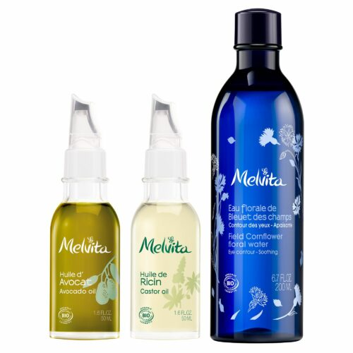 MELVITA Kornblumenblüten- wasser 200ml, Rizinusöl 50ml & Avocadoöl 50ml