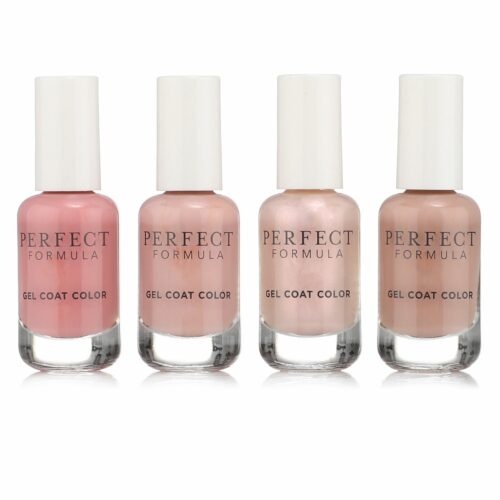 PERFECT FORMULA Nagelpflege-Set Gel Coat Color Collection 4x 8ml mit Kristallglasfeile
