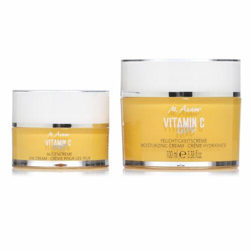 M.ASAM® Vitamin C Feuchtigkeitscreme Glow 100ml & Augencreme 30ml